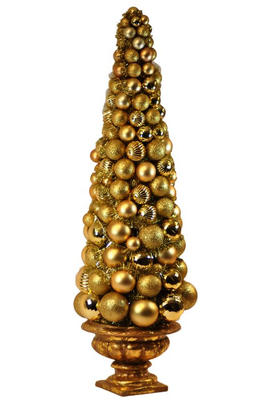 Christmas at Winterland WL-BTR-36.5-GO 3 Foot Gold Ornament Christmas