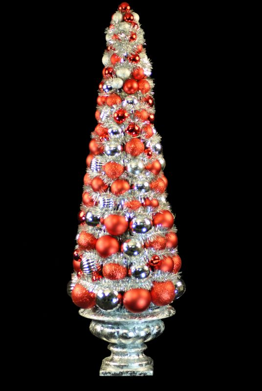 Christmas at Winterland WL-BTR-36.5-RE/SLV 3 Foot Red and Silver