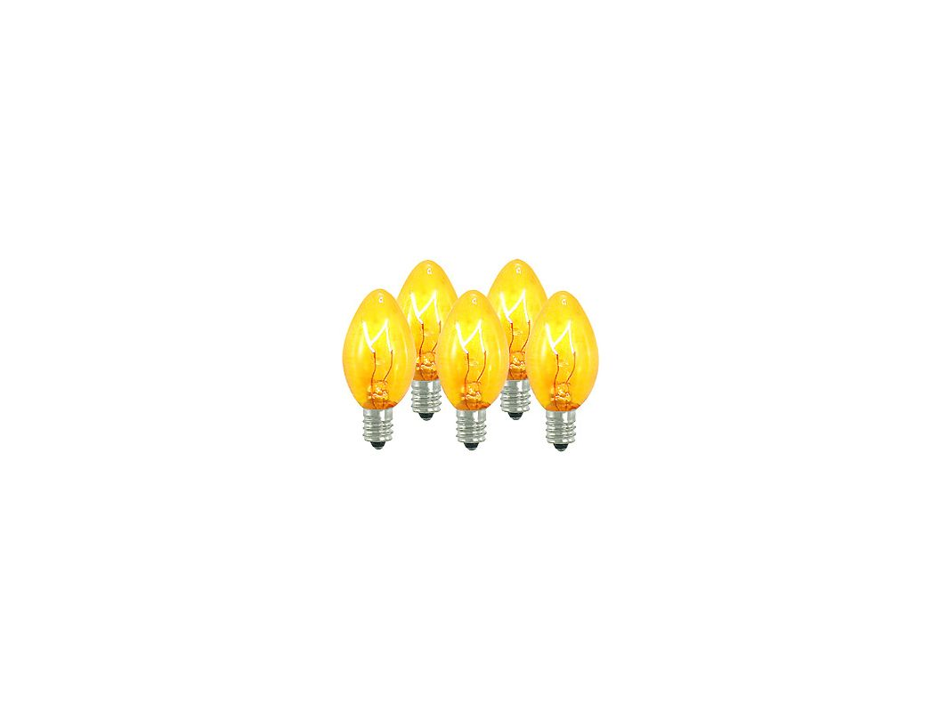 Christmas at Winterland WL-C7-Y Yellow/Gold Dimmable C7 E12 Base