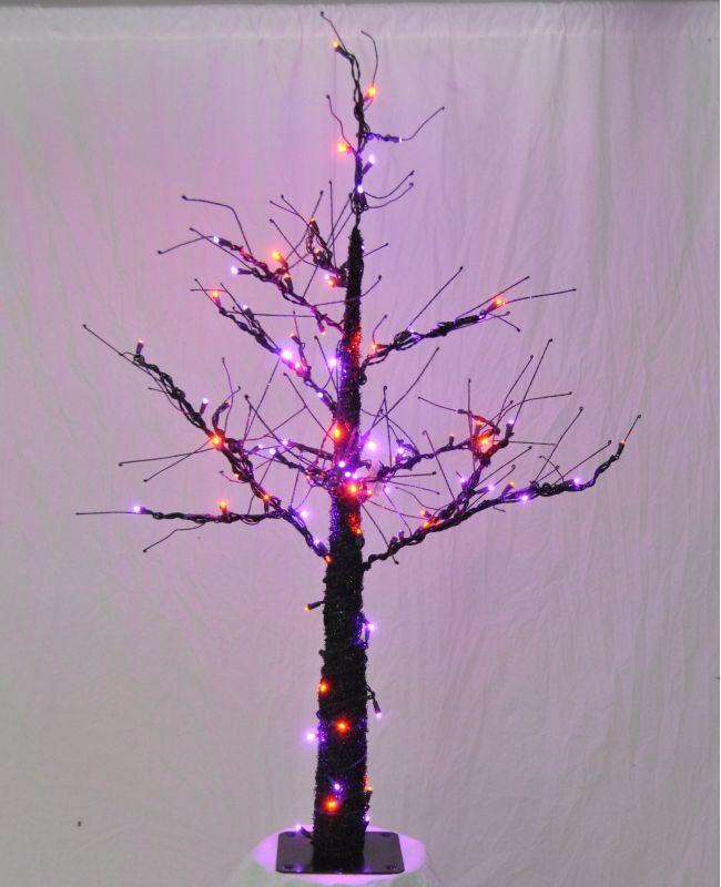 Christmas at Winterland WL-DTR-06-LPU/OR 6 Foot Pre-Lit Halloween Tree