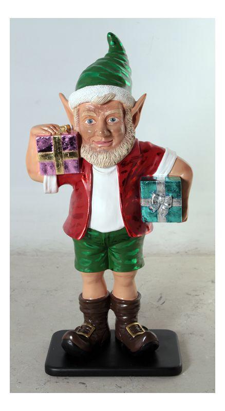 Christmas at Winterland WL-ELF-2G-03 36 Inch Elf Figurine with 2 Gift
