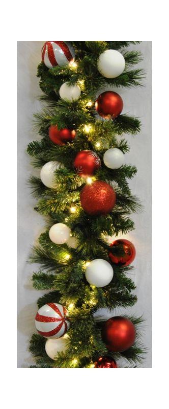 Christmas at Winterland WL-GARBM-09-CDY-LWW 9 Foot Pre-Lit Warm White