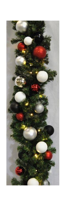 Christmas at Winterland WL-GARBM-09-MOD-LWW 9 Foot Pre-Lit Warm White