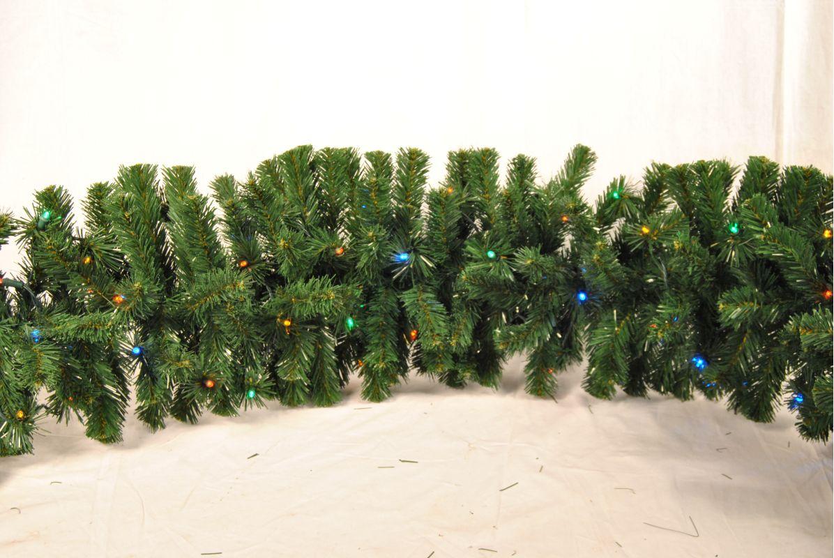 Christmas at Winterland WL-GARSQ-09-L5M 9 Foot Pre-Lit Multicolor LED