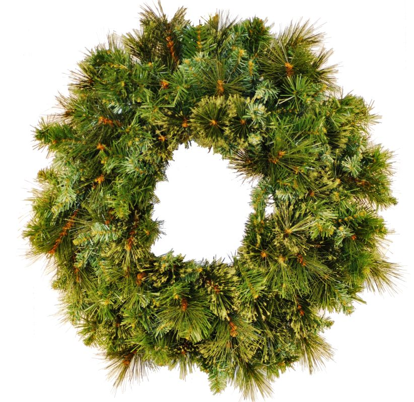 Christmas at Winterland WL-GWBM-02 2 Foot Blended Pine Wreath Green