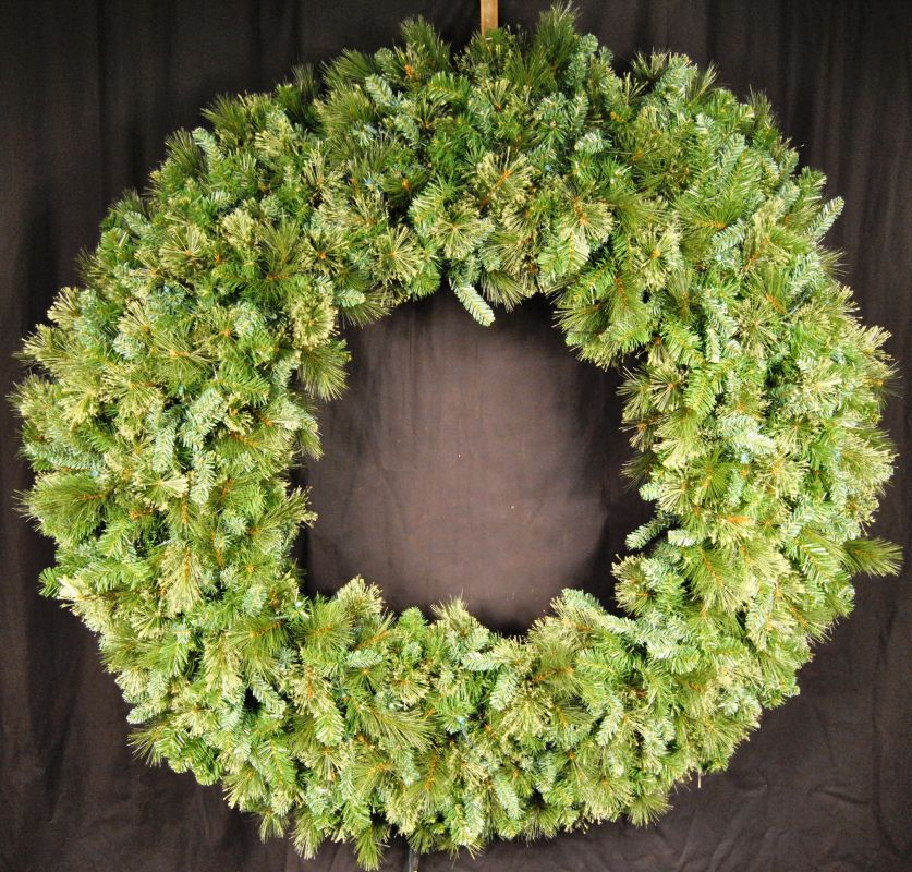Christmas at Winterland WL-GWBM-06 6 Foot Blended Pine Wreath Green