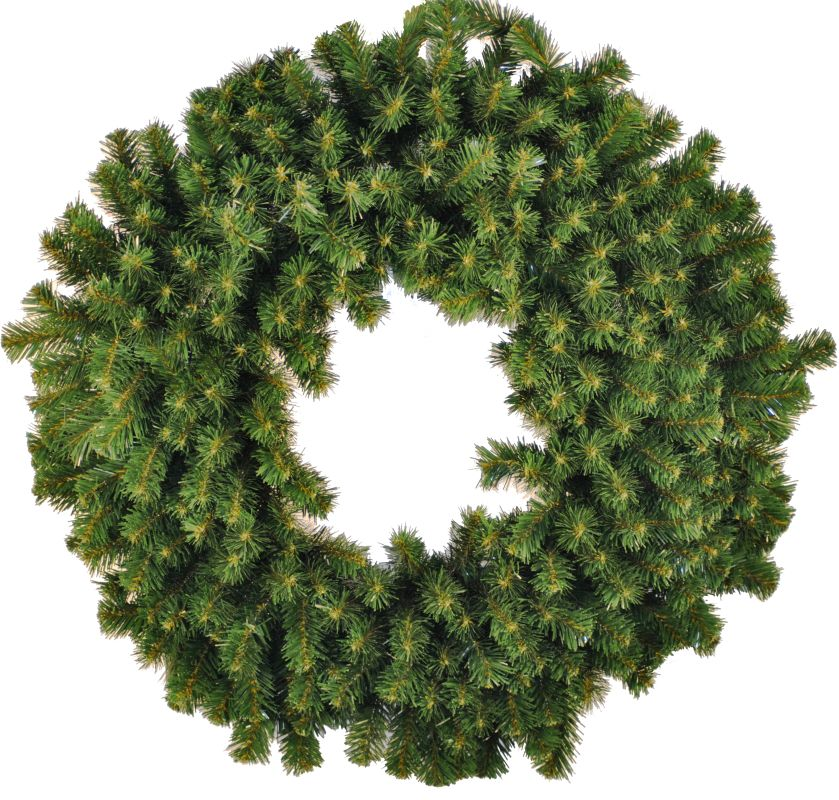 Christmas at Winterland WL-GWSQ-04 4 Foot Sequoia Wreath Green Holiday