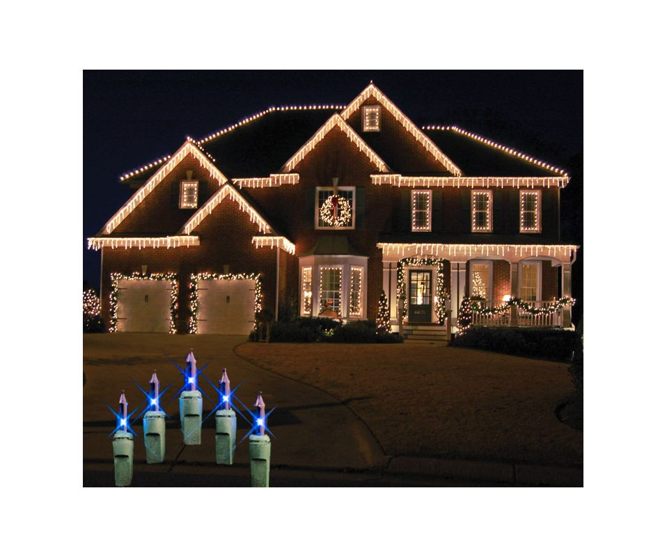 Christmas at Winterland WL-IC100-B 100 Light Incandescent Blue Icicle
