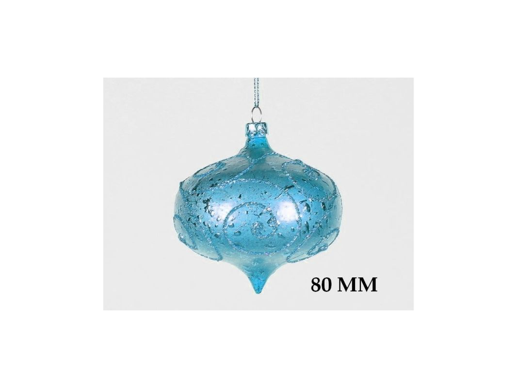 Christmas at Winterland WL-ONION-80-AQ 3 Inch Onion Ornament Teal with