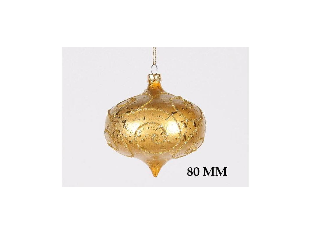 Christmas at Winterland WL-ONION-80-GO 3 Inch Onion Ornament Gold with