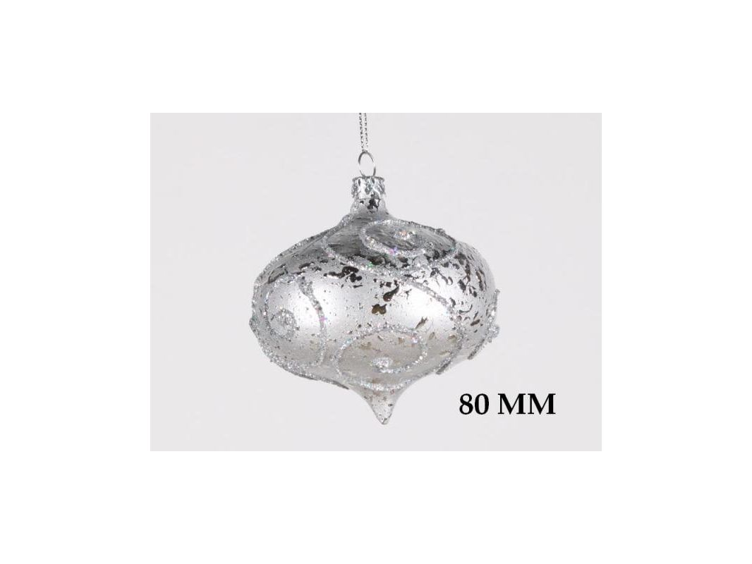 Christmas at Winterland WL-ONION-80-SLV 3 Inch Onion Ornament Silver