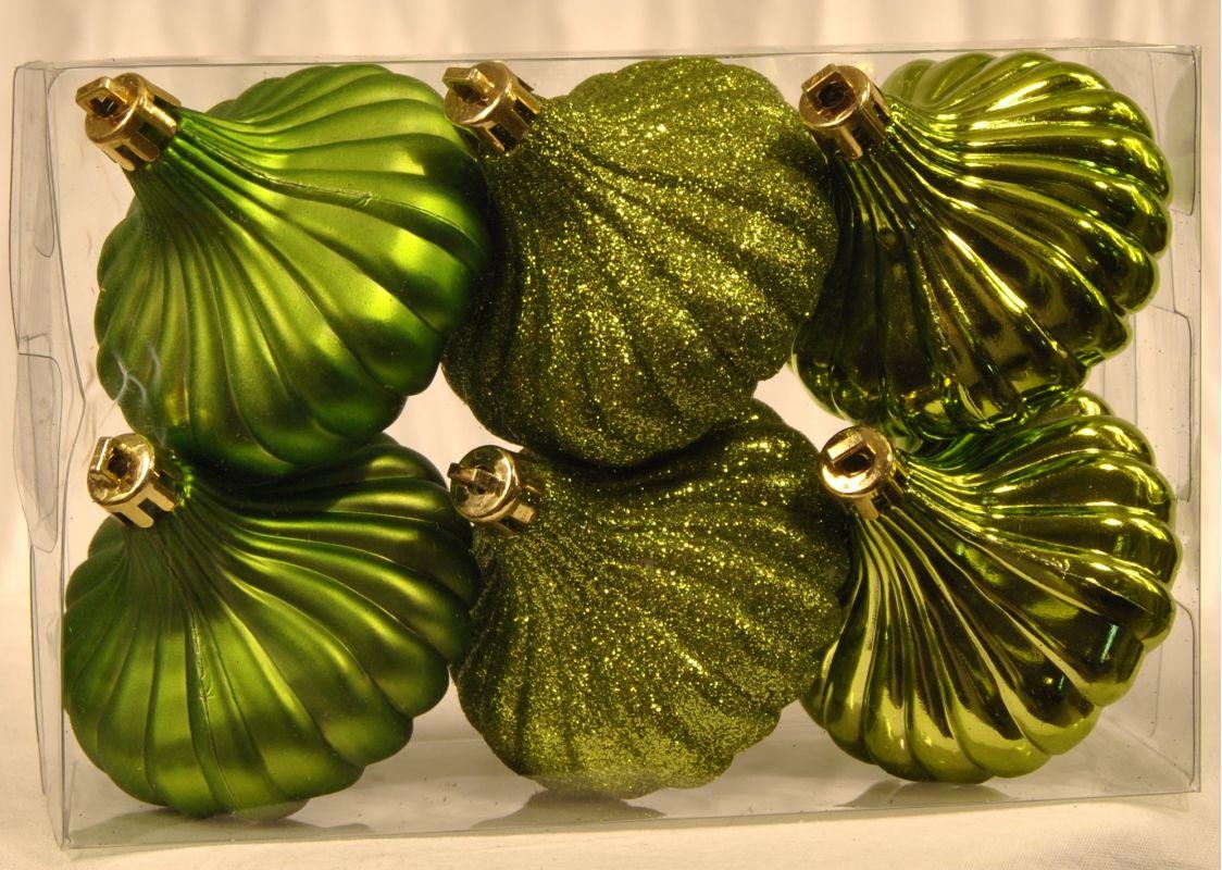 Christmas at Winterland WL-ONION-R-6PK-LG 6 Lime Green Ridged Onion