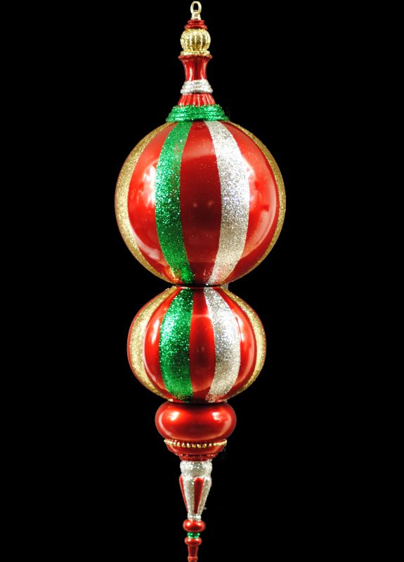 Christmas at Winterland WL-ORN-31-GRG 31 Inch Green Red and Gold
