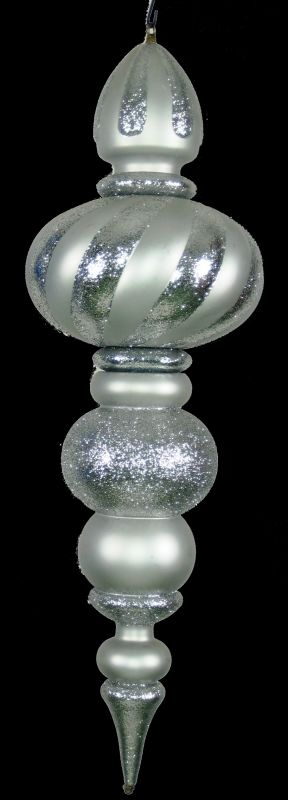 Christmas at Winterland WL-ORN-38.5-SLV 38.5 Inch Silver Plastic