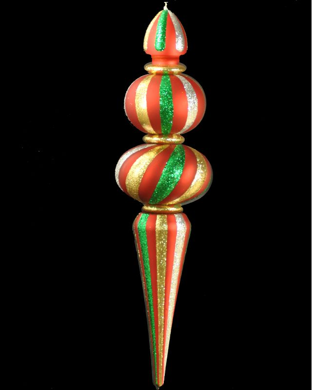 Christmas at Winterland WL-ORN-48-GRG 48 Inch Green Red and Gold