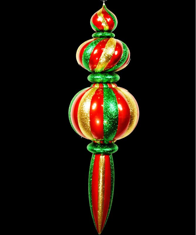 Christmas at Winterland WL-ORN-52-GRG 52 Inch Green Red and Gold