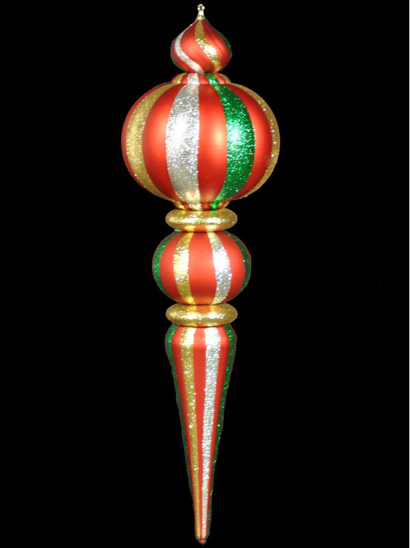 Christmas at Winterland WL-ORN-53-GRGS 53 Inch Green Red and Gold