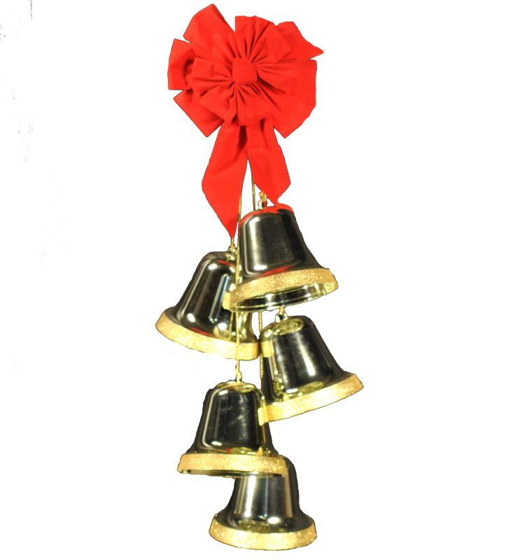 Christmas at Winterland WL-ORN-5-BELL-GO 24 Inch Gold Liberty Bell