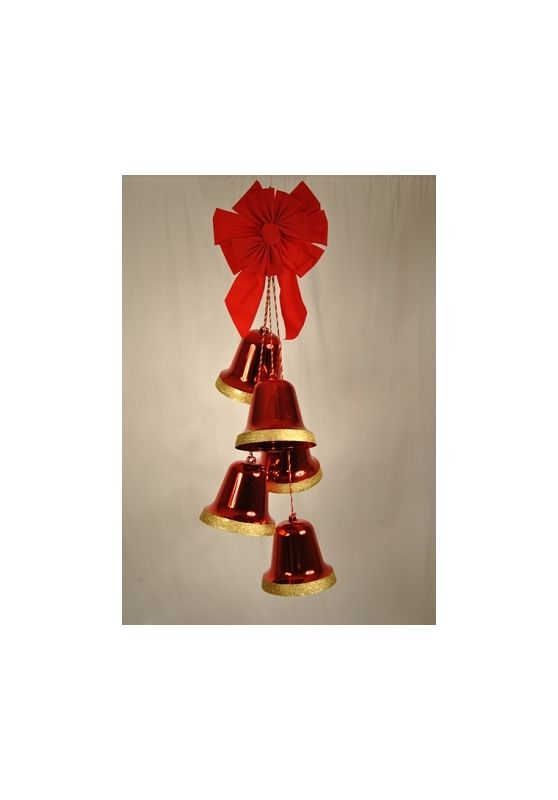 Christmas at Winterland WL-ORN-5-BELL-RE 24 Inch Red Liberty Bell