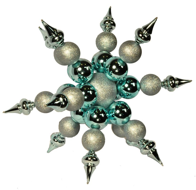 Christmas at Winterland WL-ORN-SF-BL 36 Inch Blue Starburst Ornament
