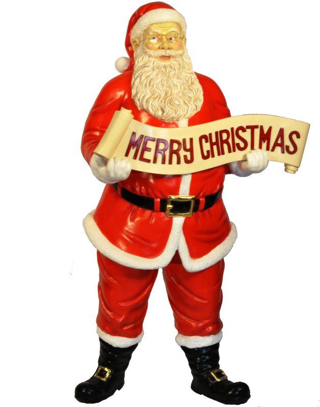Christmas at Winterland WL-SANTA-58-SIGN 58 Inch Life Size Santa with