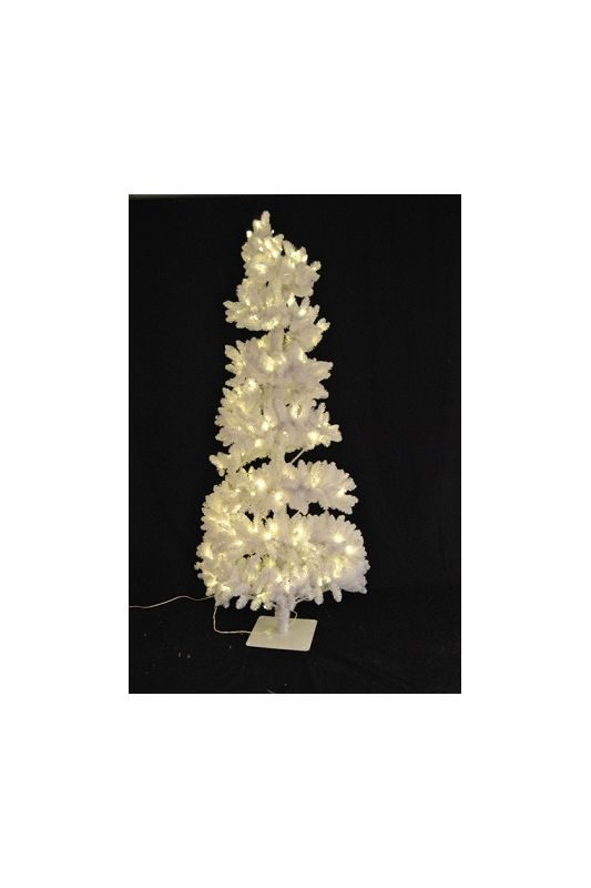 Christmas at Winterland WL-STR-06-WH-LWW 6 Foot White Spiral Christmas