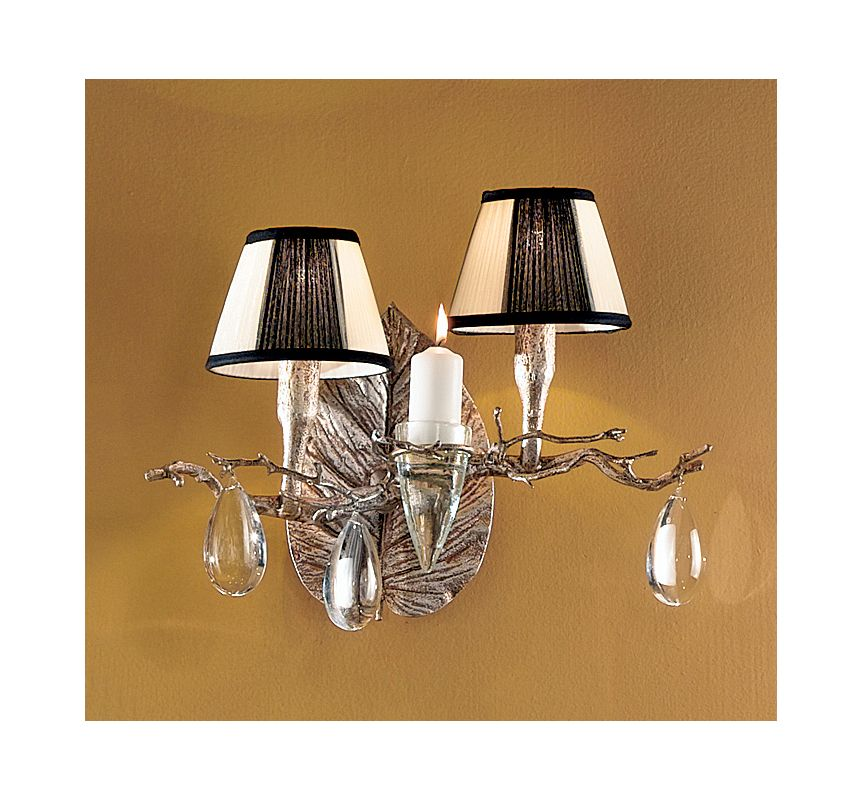"Classic Lighting 10022 14"" Crystal Wallchiere from the Morning Dew"