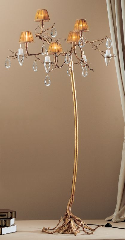 Classic Lighting 10025 Morning Dew 5 Light Tree Floor Lamp with