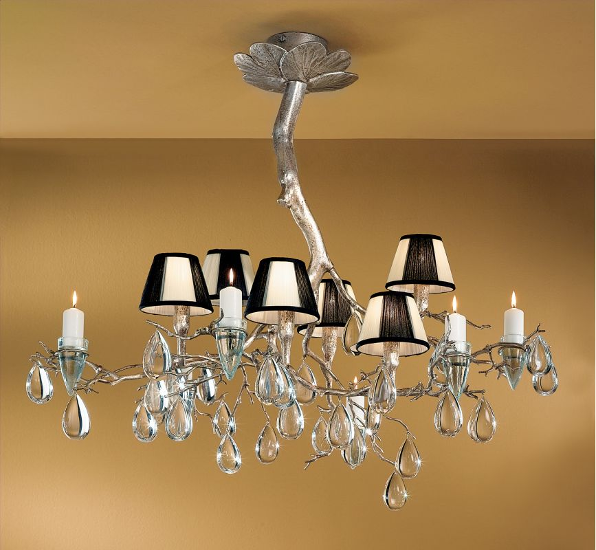 Classic Lighting 10026 Sf Silver Frost 33 Quot Crystal