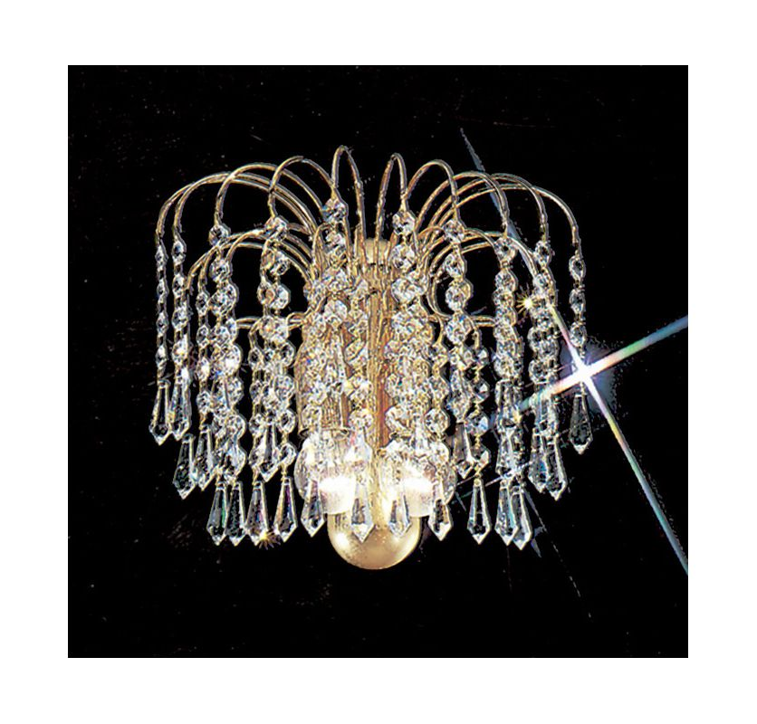 """Classic Lighting 1002-G 9"""" Crystal Sconces from the Spray Wall Bracket"""