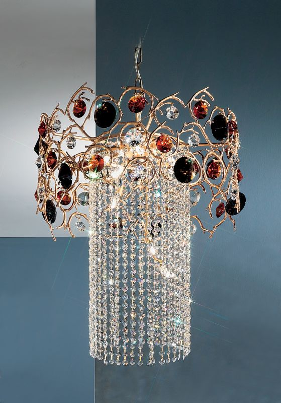 "Classic Lighting 10035-NBZ 36"" Crystal Chandelier from the Foresta"