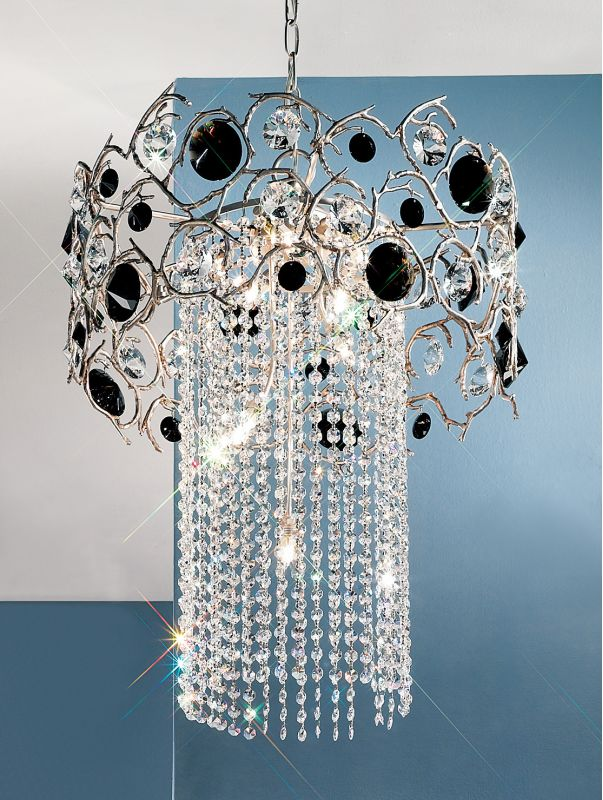 "Classic Lighting 10034-SF 22"" Crystal Chandelier from the Foresta"