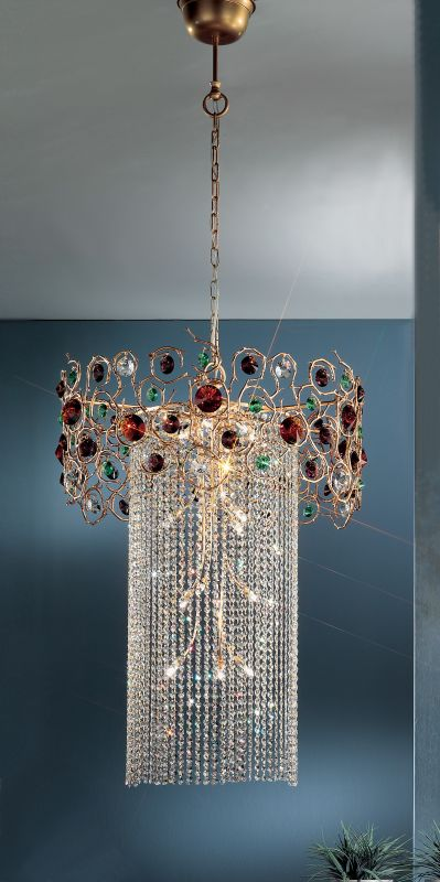 "Classic Lighting 10036-NBZ 20"" Crystal Mini-Chandelier from the"