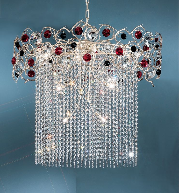 "Classic Lighting 10039-SF 25"" Crystal Chandelier from the Foresta"