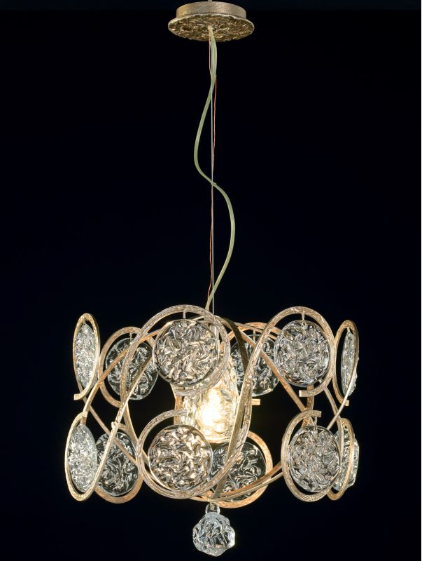Classic Lighting 10041 Celeste 1 Light Pendant with Crystal Accents