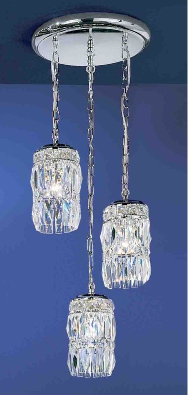 "Classic Lighting 1083-AW 18"" Crystal Chandelier from the Cascade"