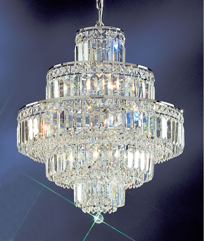 "Classic Lighting 1601-CH 21"" Crystal Chandelier from the Ambassador"