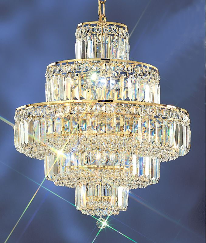 "Classic Lighting 1601-G 21"" Crystal Chandelier from the Ambassador"
