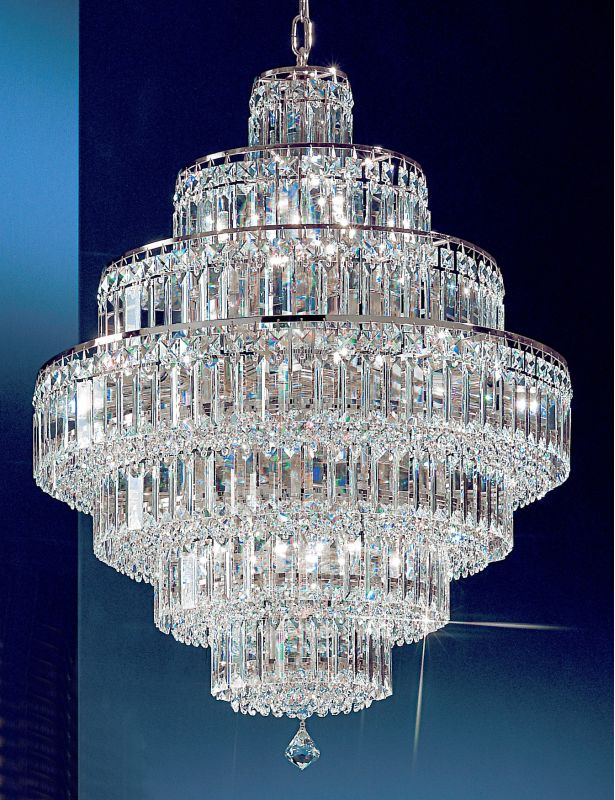 "Classic Lighting 1603-CH 35"" Crystal Chandelier from the Ambassador"