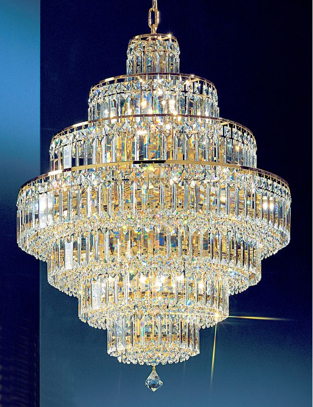 "Classic Lighting 1603-G 35"" Crystal Chandelier from the Ambassador"