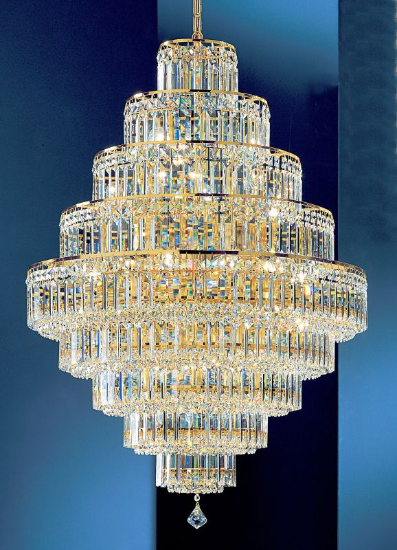 "Classic Lighting 1604-G 41"" Crystal Chandelier from the Ambassador"