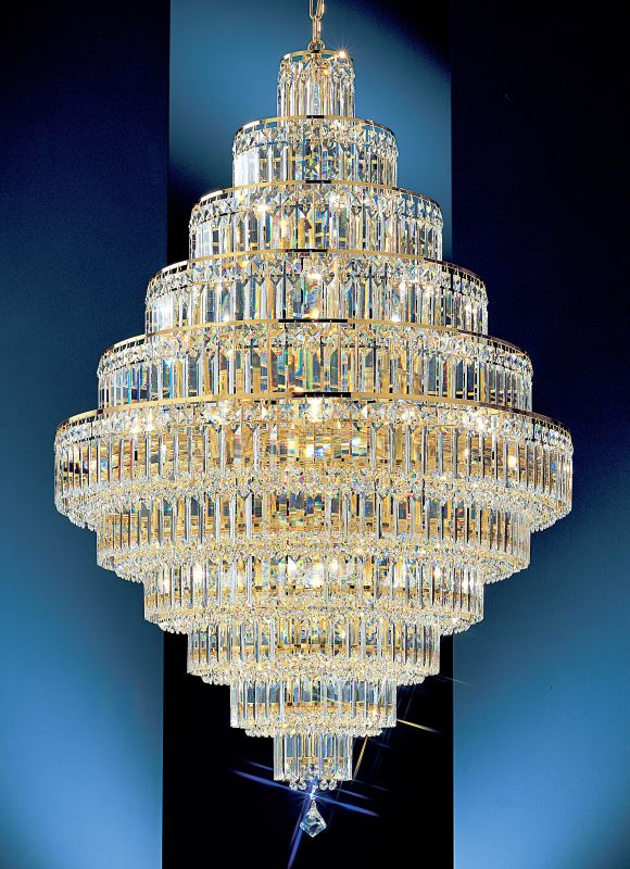 "Classic Lighting 1605-G 48"" Crystal Chandelier from the Ambassador"