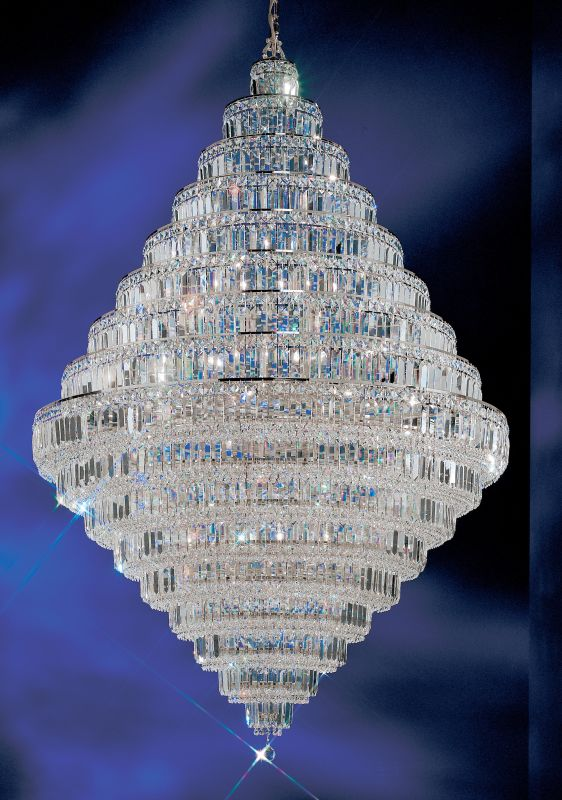 "Classic Lighting 1606-CH 73"" Crystal Chandelier from the Ambassador"