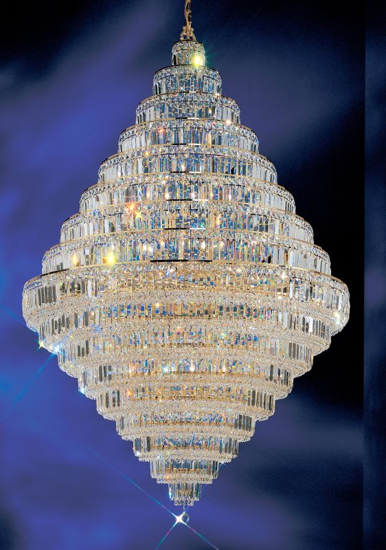 "Classic Lighting 1606-G 73"" Crystal Chandelier from the Ambassador"