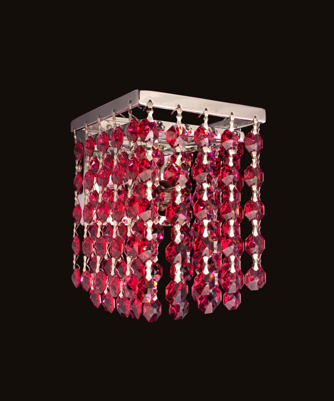 """Classic Lighting 16102-CH 4.5"""" Crystal Sconces from the Bedazzle"""