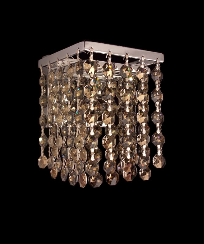 "Classic Lighting 16102-CH 4.5"" Crystal Sconces from the Bedazzle"