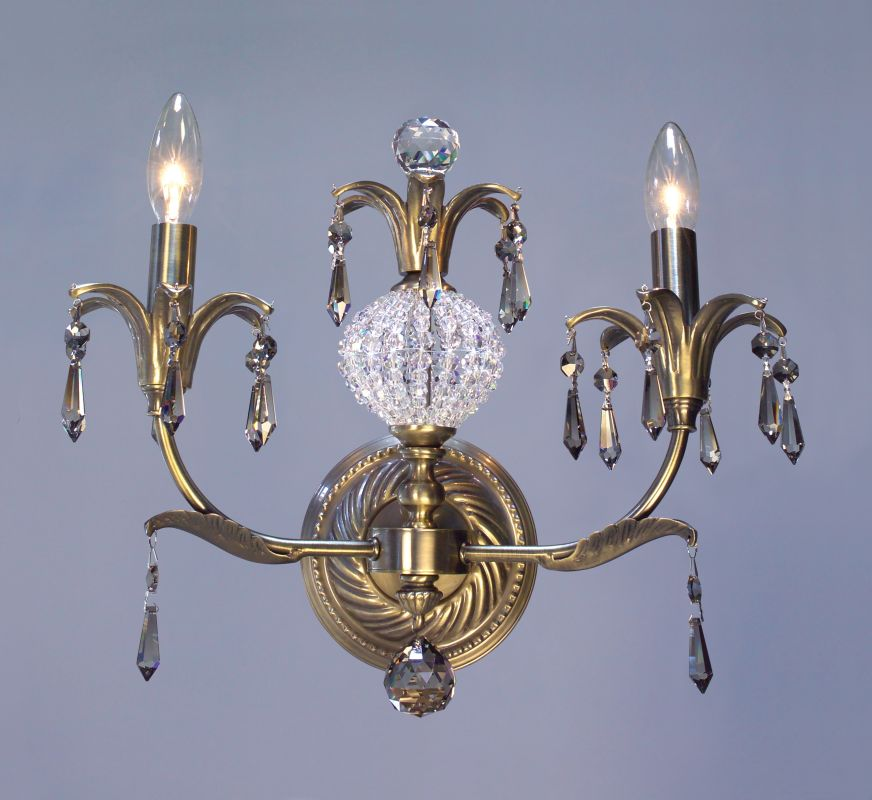 "Classic Lighting 16112-ABR 12"" Crystal Wallchiere from the Sharon"