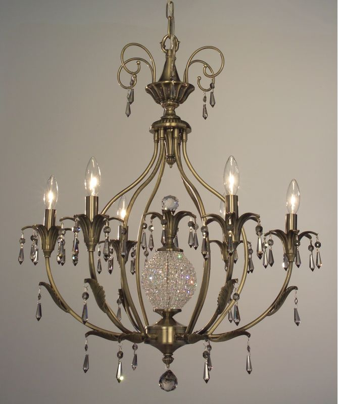 "Classic Lighting 16116-ABR 30"" Crystal Chandelier from the Sharon"