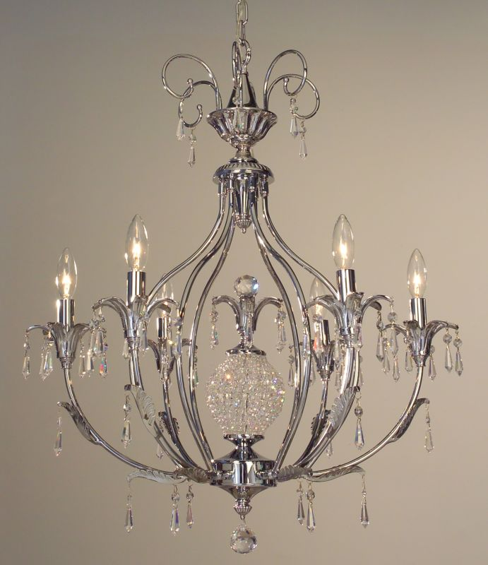 "Classic Lighting 16116-CH 30"" Crystal Chandelier from the Sharon"
