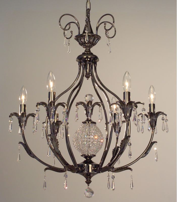 "Classic Lighting 16116-EP 30"" Crystal Chandelier from the Sharon"